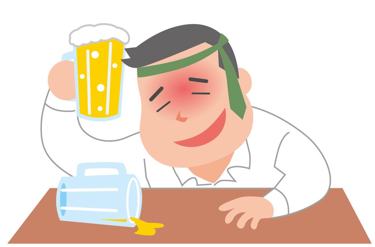 二日酔いの原因と症状の関係、治るまでの時間