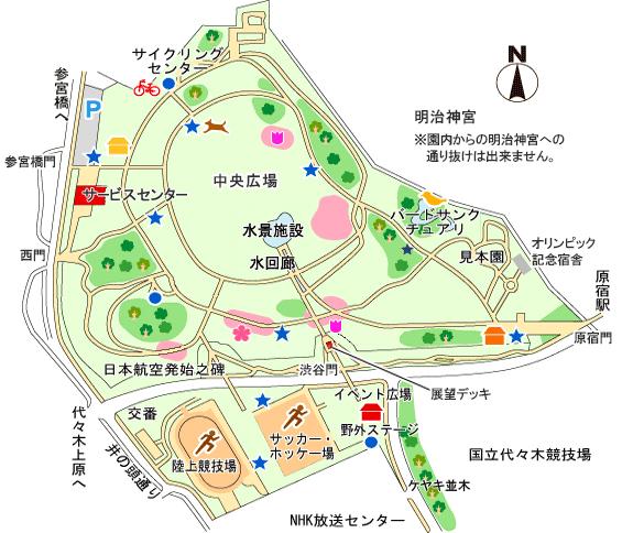 代々木公園園内マップ